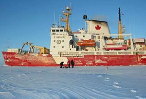 كاسحة الجليد الكندية أموندسن خلال مهمة في القطب الشمالي صيف 2008 (Emily Chung/CBC)