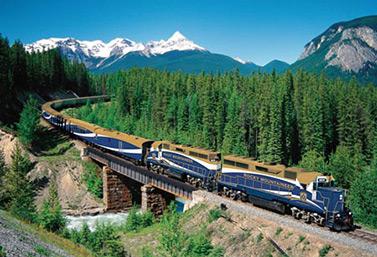 قطار روكي مونتينيير  Rocky Mountaineer