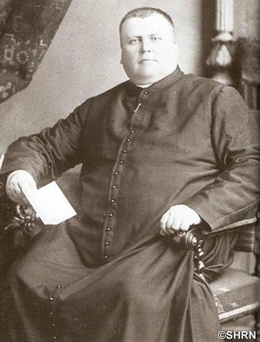 الكاهن الفرنسي أنطوان لابيل الملّقب بملك الشمال, نحو العام 1872 بعمر 39 عام  (مؤسسة تاريخ ساقية الشمال)