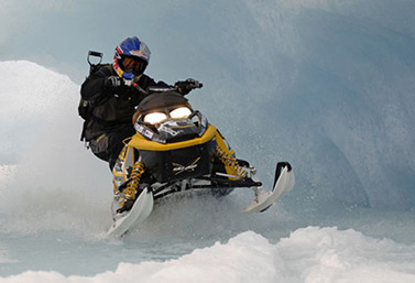 Snowmobiles have seen many improvements since they were invented in the 1950s and now have a much sleeker look.