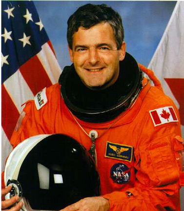 Marc Garneau, the first Canadian in outer space. He took part in three shuttle flights, including Challenger STS-41-G from October 5 to 13, 1984. (Canadian Space Agency)