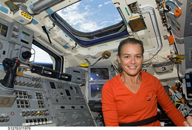 In spring 1999, Julie Payette became the first Canadian woman in outer space. (NASA)