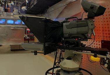 The Radio-Canada studio in Ottawa (Patrick Pilon)