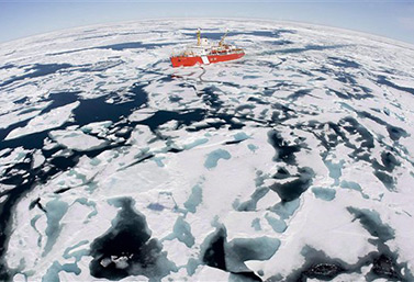 The CCGS Louis S. St-Laurent icebreaker, during a mission in Baffin Bay in the summer of 2008. (CP / Jonathan Hayward)