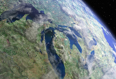 The Great Lakes seen from space. (Mark Alberts/Mongrel Media)