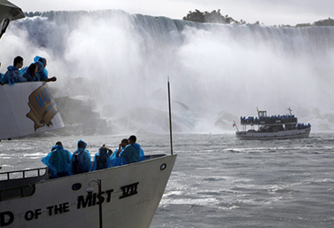 The Maid of the Mist can get very close to Niagara Falls. The first boat of this kind was commissioned in 1846. (Canadian Press)