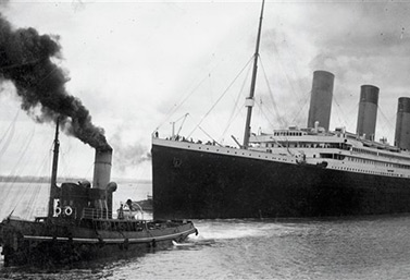 The Titanic sailed from Southampton on April 10, 1912. (AFP / Southampton City Council)
