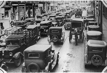 Circulación de automóviles en Canadá.  (Bibliothèque et Archives Canada)