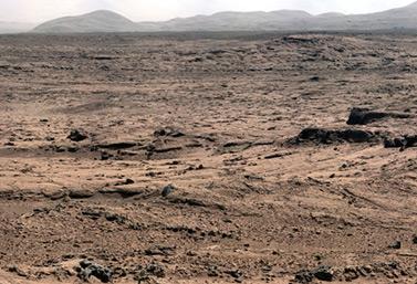 Imagen de Marte tomada por el vehículo de exploración (rover) Curiosity en la bahía de Yellowknife (NASA)