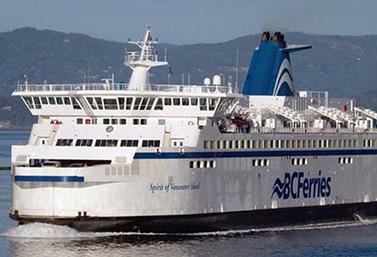 Un transbordador en la costa oeste, no lejos de Vancouver, en Columbia Británica (Darryl Dyck / Canadian Press)