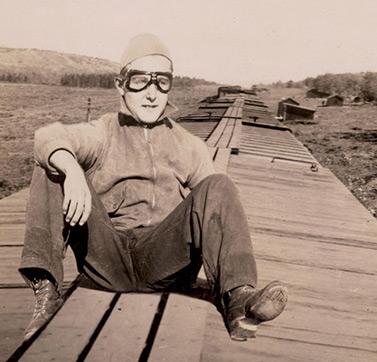 Gordon McLean (Bibliothèque et Archives Canada) Gordon McLean del pueblo de Tribune, en Saskatchewan, a los 15 años cuando se volvió vagabundo de los trenes.