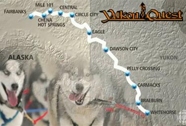Yukon Quest, entre Whitehorse, au Yukon, et Fairbanks, en Alaska, est reconnue comme la course de traîneaux à chiens la plus difficile du monde. C'est 1600 km de glace, de neige et d'adrénaline. (Radio-Canada/Jean-François Bélanger)