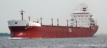 Le laquier Richelieu sur la Voie maritime du Saint-Laurent (Paul Cooledge/1000 Island Image)