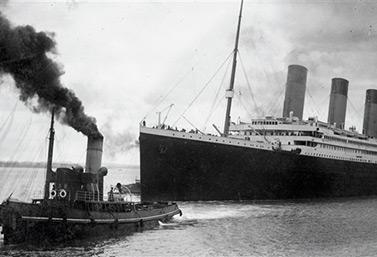 Le Titanic quitte le port de Southampton le 10 avril 1912. (AFP/Conseil municipal de Southampton)