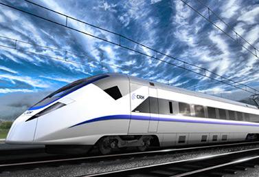 Dessin d'un train à grande vitesse de Bombardier, en Chine (Bombardier Transports inc.)