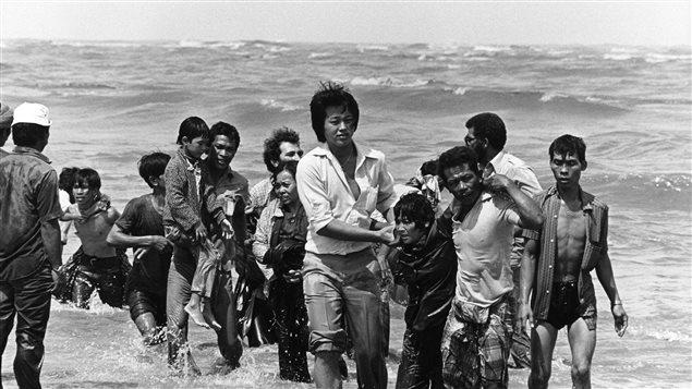 Réfugiés vietnamiens sur les côtes de la Malaisie à la fin des années 70 Photo : Getty Images/K. GAUGLER