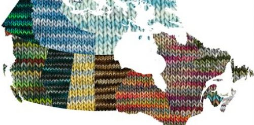 Special yarn colours for Canada's birthday