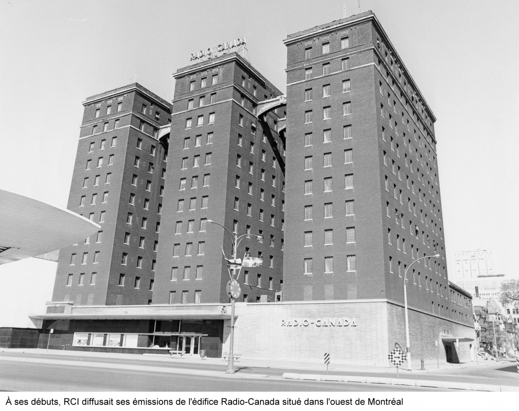 When it started in 1945, RCI broadcast in the CBC building in west Montreal.  Photographe et droits d'auteur : inconnu