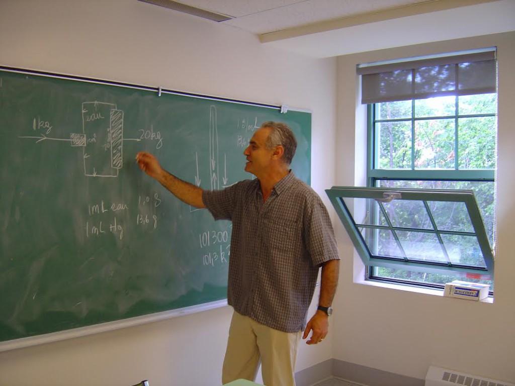 Guillermo Pieli, en su trabajo de profesor.