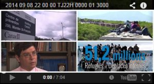 quatre miniatures de vidéos placées deux par deux encadrées par l'interface de YouTube