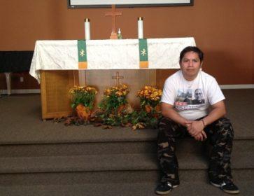 José Figueroa a cherché refuge à l'église luthérienne de Langley, en Colombie-Britannique. (Jeremy Allingham / Radio-Canada)