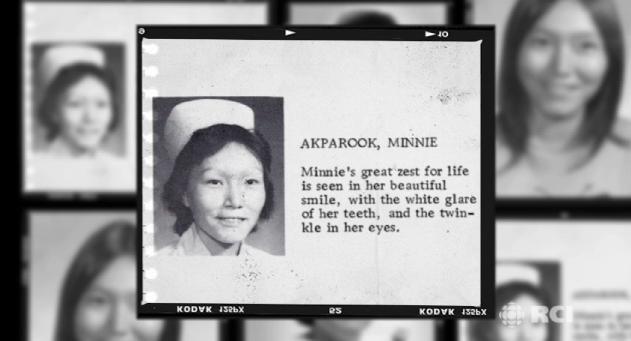Minnie Akparook, école d'infirmières, 1976. Photo : avec la permission de Minnie Akparook.