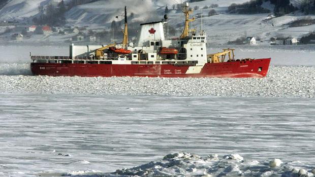 Le navire Amundsen. (La Presse Canadienne)