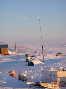 Hunting camp near Clyde River, Nunavut.