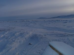 Arctic landscape in northeast Baffin Island.