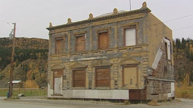 L'édifice historique de la CIBC à Dawson City au Yukon. (CBC)