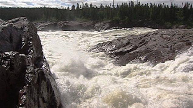 Le projet de Muskrat Falls est prévu sur le bas du fleuve Churchill, au Labrador. (Radio-Canada)