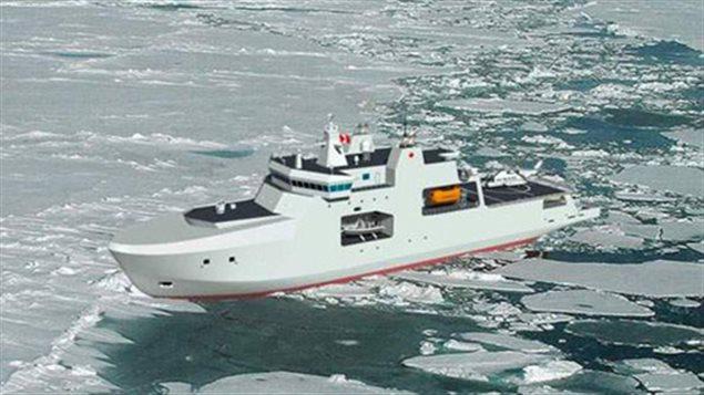 Les navires destinés à l'Arctique commandés par la Défense nationale.  (Défense nationale)