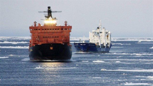 Navigation commerciale en Arctique. (Radio-Canada)