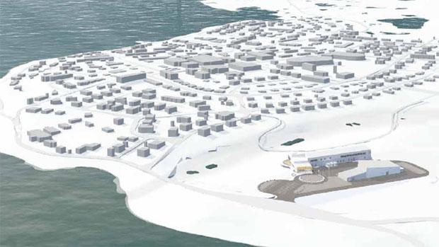 La Station de recherche du Canada dans l'Extrême-Arctique (projet) Crédit photo : CBC/FGMDA/NFOE Architectes