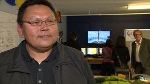 Peter Keenainak, from the Nunavut Fisheries Training Consortium, said the equipment will make training more effective. (CBC)
