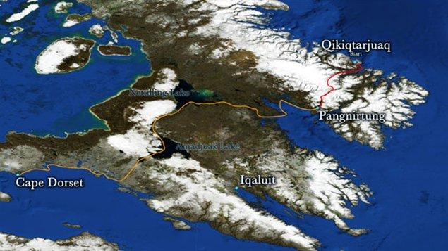 1 000 kilomètres en kayak traditionnel et en ski-voile en Arctique (Carte proposée)
