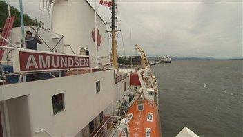 Le brise-glace de recherche canadien Amundsen. (Radio-Canada)