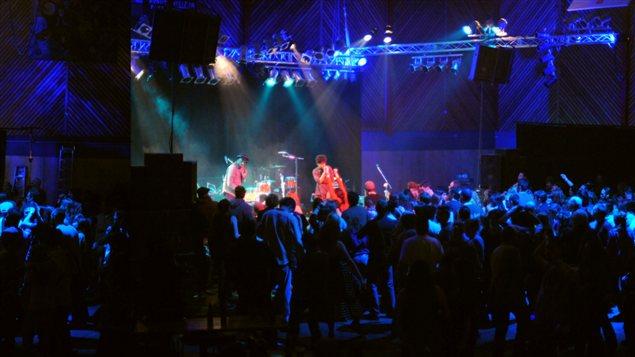 Un des concerts du festival Frostbite de Whitehorse en 2011.  (frostbitefest.ca / Radio-Canada.ca)