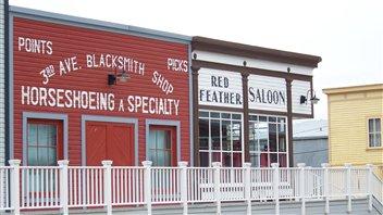 Un ancien atelier de forgeron et un saloon reconstitué à Dawson City  (Philippe Moulier)