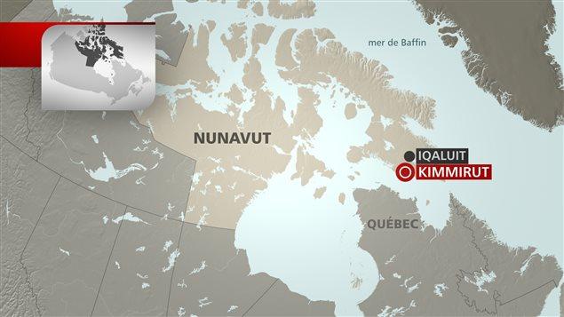Carte du Nunavut. Le Nunavut, plus grand que le Mexique, couvre 2 093 190 km2 soit 1/5 de toute la superficie du Canada. (Radio-Canada)