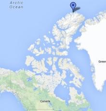 L'île de Ward Hunt, l'une des points les plus au nord du Canada. L'île de Ward Hunt, l'une des points les plus au nord du Canada. (RCInet.ca)