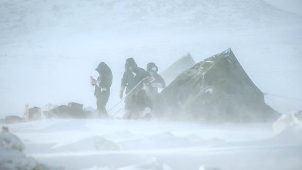 160 militaires réservistes canadiens et américains prennent part à l'exercice « Guerrier Nordique » jusqu'au dimanche 9 mars. (Gracieuseté, Cpl Valérie Villeneuve)