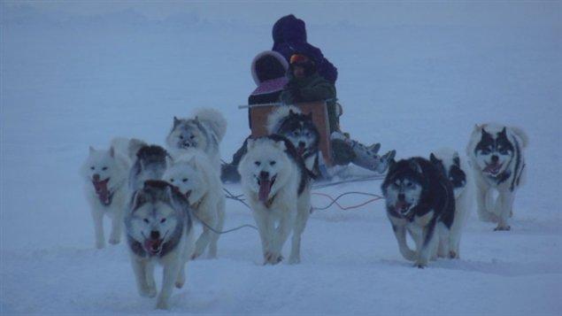 Les mushers Allen Gordon et Manngi Kooktlook de Kuujjuaq. (Alec Gordon)