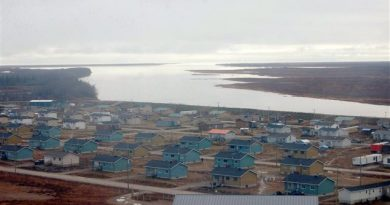 La communauté autochtone de Kashechewan, sur la côte ouest de la baie James. (La Presse Canadienne)