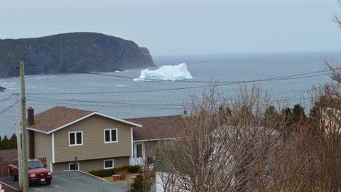 Un iceberg devant le village de Torbay ce week-end dernier. (CBC News)
