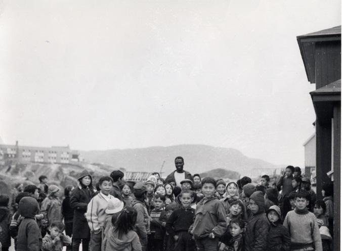 Tété-Michel Kpomassie à Qaqortoq, Groenland, 1965