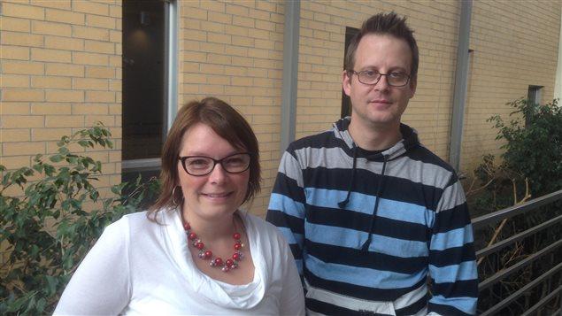 Mylène Jubinville et Francis Lévesque. (Sandra Ataman/ ICI Radio-Canada)