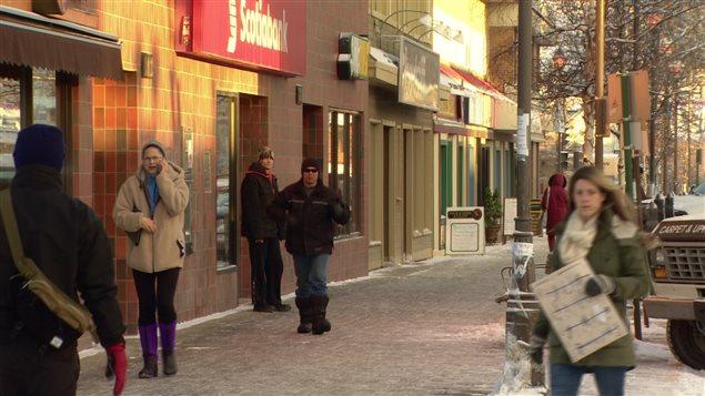 Les commerçants remarquent une baisse des ventes à l'approche du temps des Fêtes par rapport à l'an dernier. (Cory Correia/ICI Radio-Canada)