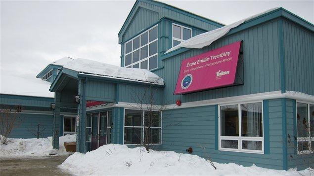 L'école Émilie-Tremblay de Whitehorse au Yukon. (Christian Molgat/Radio-Canada)