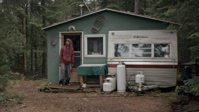 Rykko Bellemare interprète Shawnouk,le rôle principal du film Avant les rues Crédit photo : Chloé Leriche